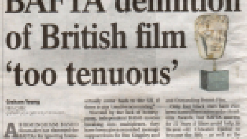Birmingham Post – Bafta Definition of British film 'too tenuous'