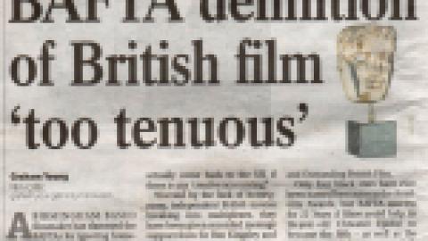 Birmingham Post – Bafta Definition of British film 'too tenuous'