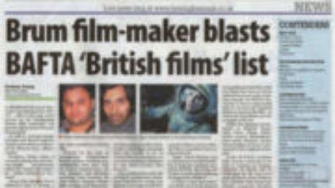 Brum film-maker blasts Bafta 'British Films' list