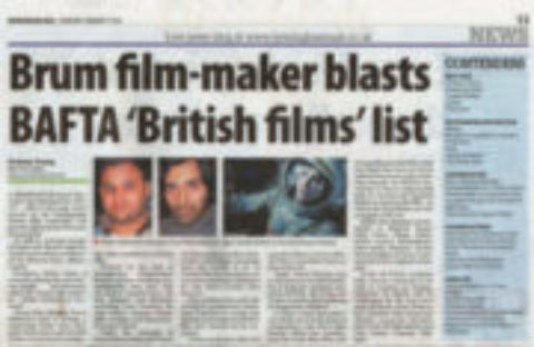 Brum film-maker blasts Bafta 'British Films' list